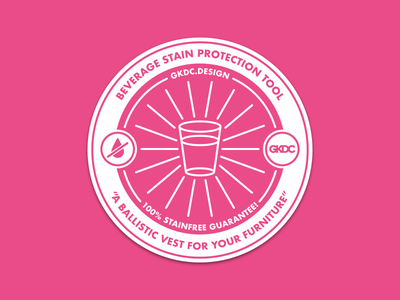 The Beverage Stain Protection Tool! futura beer coaster beer pink gkdc stickermule sticker coaster