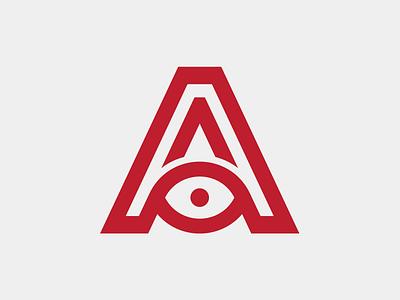 A Logo eye logo eye candy eyelid eye lid lid eye icon typography flat logo design vector type color branding simple logotype design logo