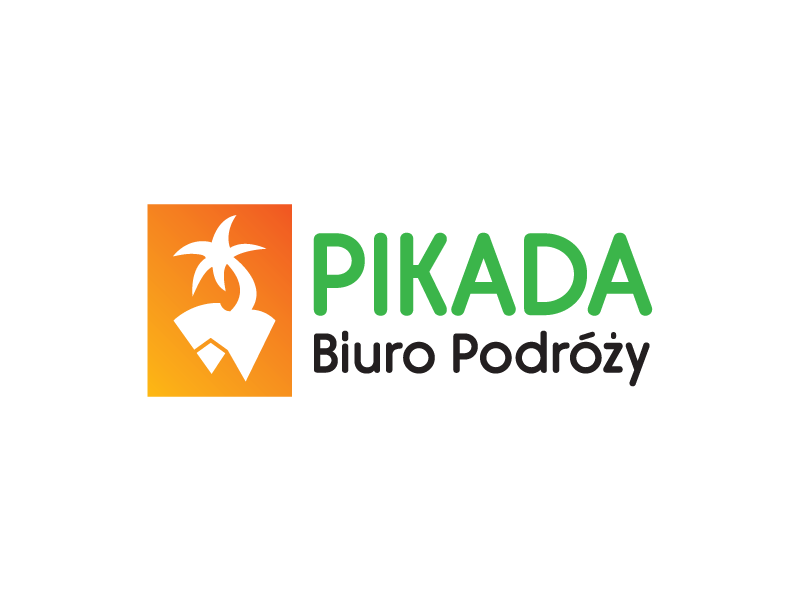 Pikada mountain sea travel agency mark logotype logo branding