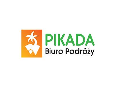 Pikada mountain sea travel agency mark logotype logo branding