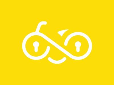 Safe Bike safe logotype logo mark padlock bike