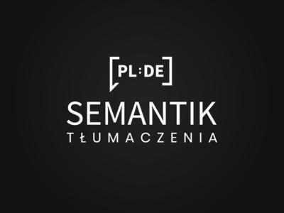 Semantik - Sworn Translator mark logo brand agency white black translate brand