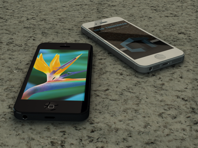 Iphone 5 black   white 4x3