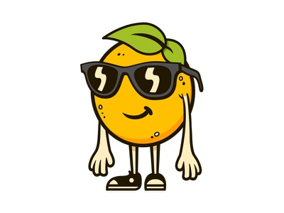 Orange Dude character design orange character illustration illustrator sunglasses leaf converse chucks glasses fruit