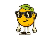 Orange Dude character design orange character illustration illustrator sunglasses leaf converse chucks glasses fruit