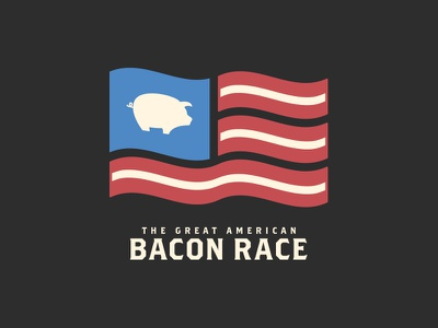The Great American Bacon Race logo branding