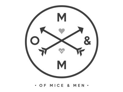 Of Mice & Men apparel of mice  men of mice and men design hearts warped tour tee t-shirt branding logo