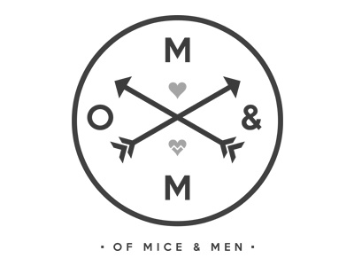 Of Mice & Men apparel of mice  men of mice and men design hearts warped tour tee t-shirt branding logo