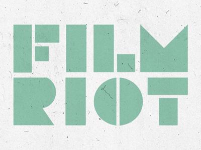 Film Riot Logo film riot branding logo identity revision3 design film
