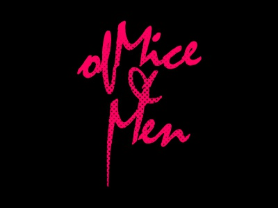 Of Mice & Men Type of mice  men of mice and men warped tour design type typography music branding identity