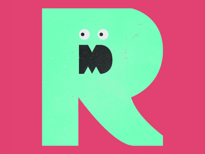 RM Monster Logo monster logo ryanmiller branding identity fun