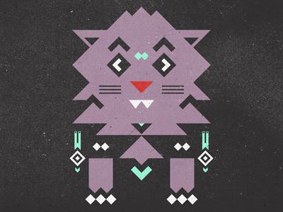 Aztec Cat cat native american illustration snail art design