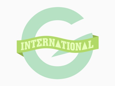 Greek International Logo logo branding design greek art custom type