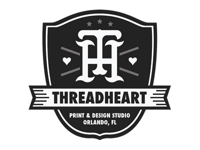 Threadheart Crest crest threadheart heart branding design logo