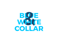 Blue and White Collar Bold