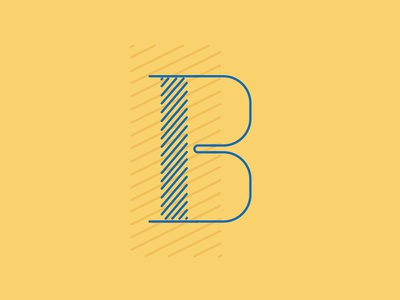 B typography primary colors letters b 36 days of type illustration line art