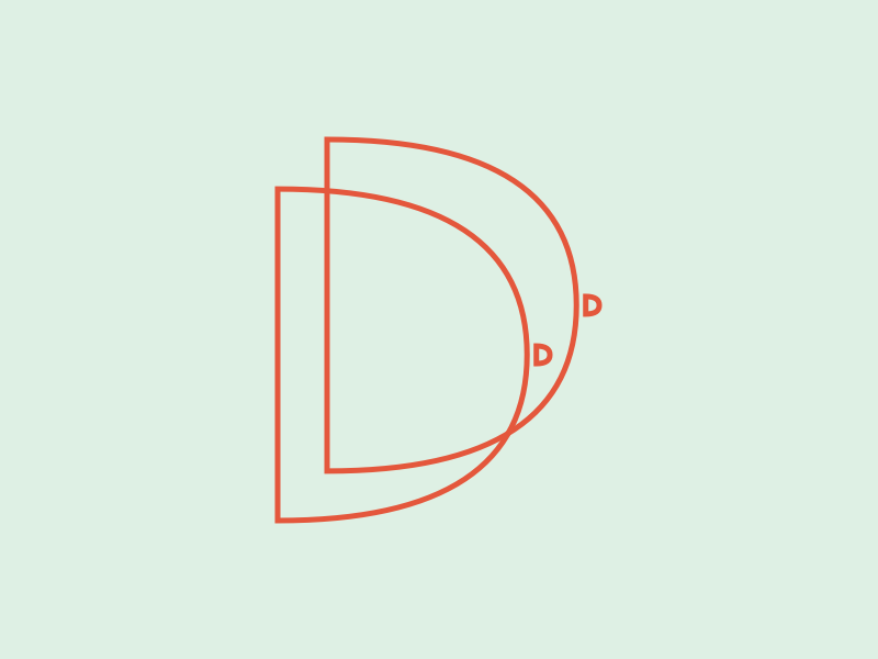Double D's d letter d design 36 days of type typography letters illustration