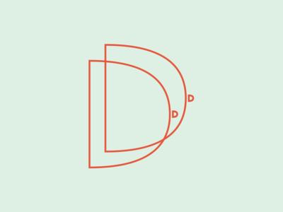 Double D's d letter d design 36 days of type typography letters illustration