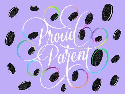 Oreo Proud Parent ipad oreo proud parent family branding procreate type design lettering