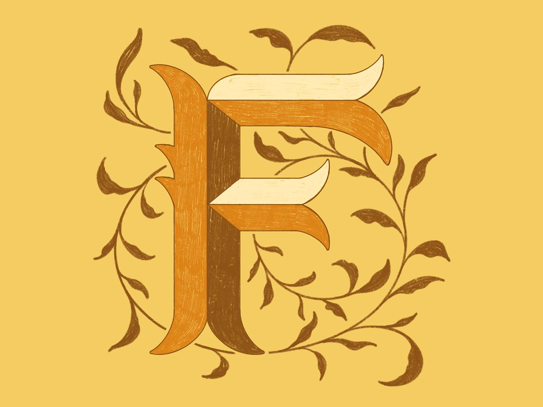 F procreate 36daysoftype-f typogaphy type lettering 36 days of type lettering 36 days of type texture illustration