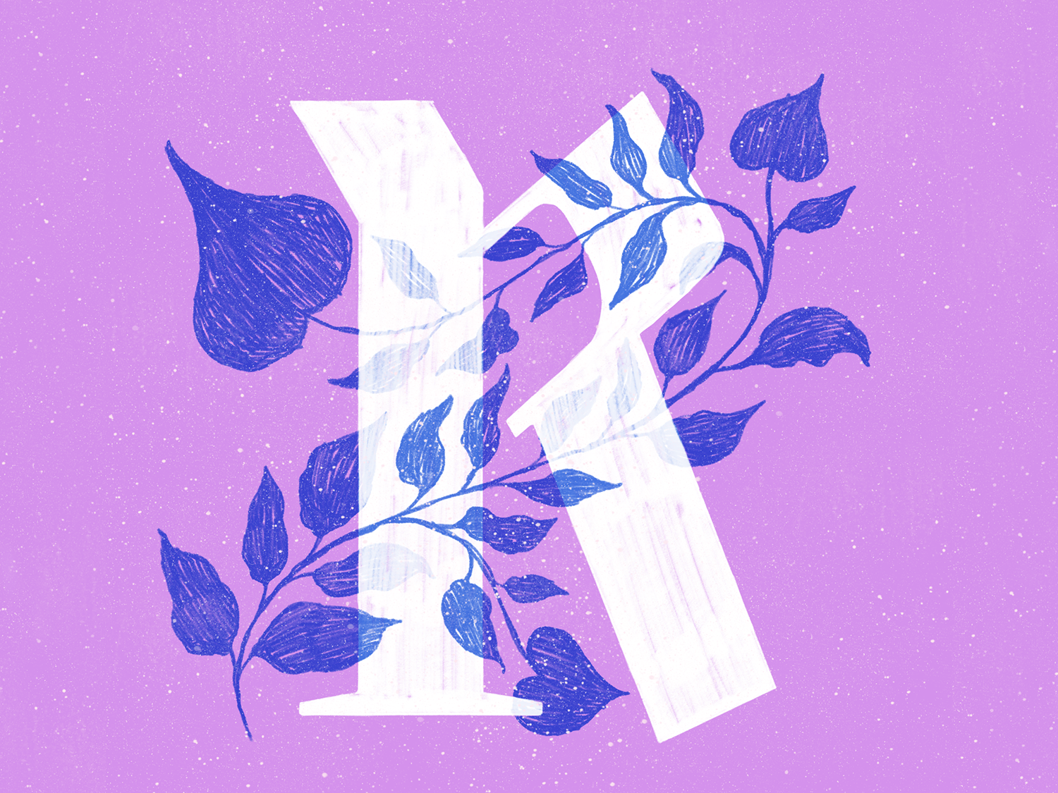 R plants procreate typography type 36daysoftype lettering texture illustration