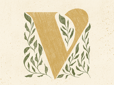 V plants 36daysoftype procreate typography colors type lettering design texture illustration