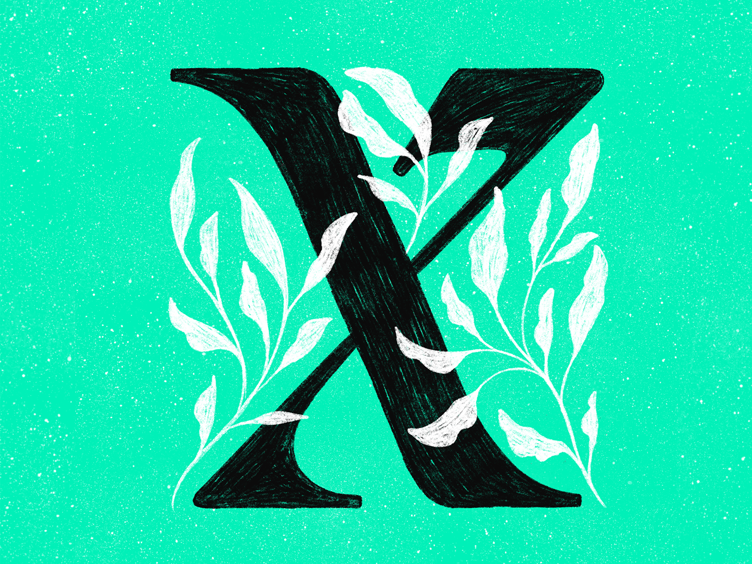 X plants 36 days of type 36 days of type lettering procreate typography colors type design lettering texture illustration