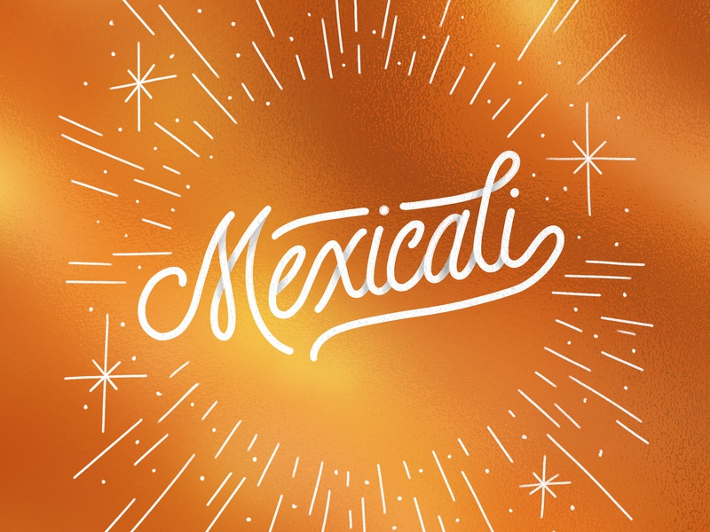 Mexicali mexicali mexico procreate typography type lettering