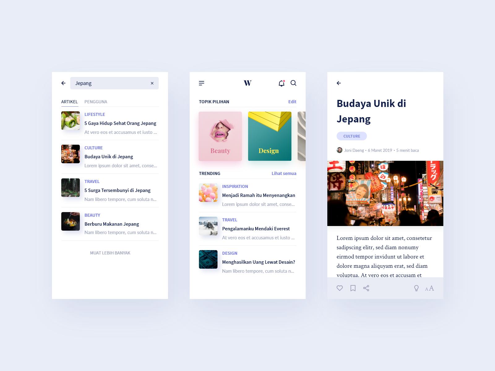 Publishing Platform Mobile App By Dandi Wiratsangka On Dribbble