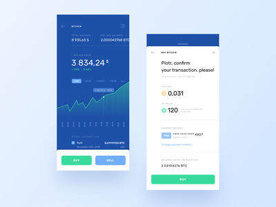 Cryptocurrency Wallet minimal payment confirmation dashboard mobile app interaction ux ui fin tech crypto currency crypto wallet crypto app typography blue