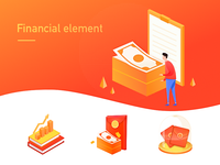 Small illustration of financial elements
