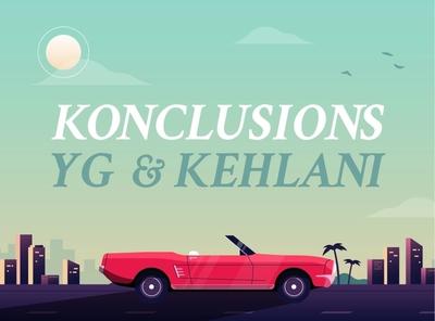 Konclusions illustration sun gradient mustang convertible palmtree hollywood rap hiphop california car design illustrator