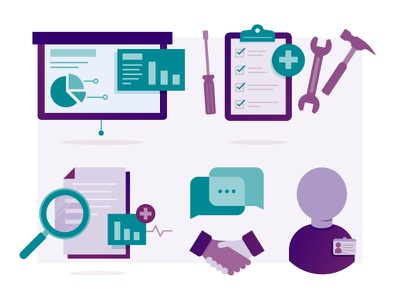 Work Time file tools message employee handshake presentation icon design icons design illustrator illustration