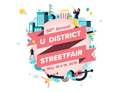 Fair Poster design carnival fun seattle festival illustration illustrator poster fair