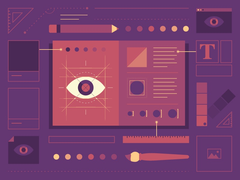 Brand Book color palette color brand identity guide logo design eye book brand branding illustrator illustration