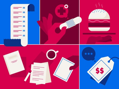 Labor Day design medical office burger usa reciept nurse labor day illustration illustrator