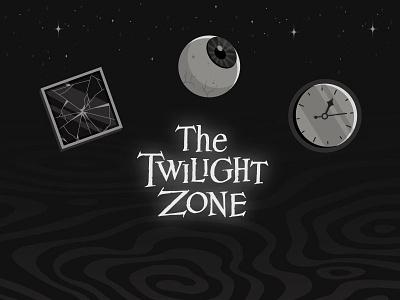 The Twilight Zone poster spiral spooky illustraion illustrator window glass time clock eyeball eye halloween twilight zone twilight