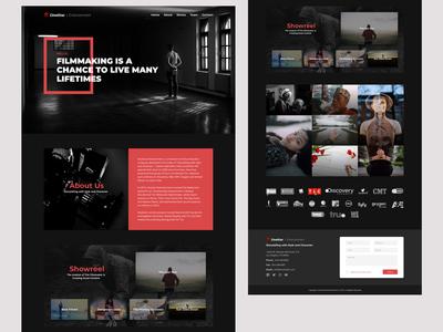 Entertainment Studio Home Page Concept
