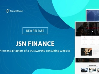 JSN Finance - Template for finance and consulting site web branding typography joomla template joomlashine joomla templates website design design template design