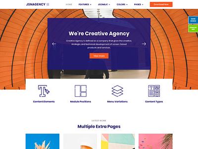 JSN Agency #Creative type website branding design web joomla template typography template design website design joomla templates joomlashine