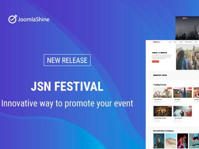 Jsn Festival branding typography website web joomla templates ui ux illustration website design design template design joomla template joomlashine
