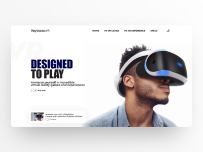 Playstation VR Introduction landing product landing psvr playstation webdesign minimalism userexperience uiux design userinterface ux ui