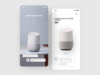 Google home App design app design application ecommerce app best shot app google home apple siri alexa ai google userexperience uiux design userinterface ux ui