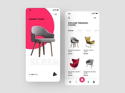 Modern furniture ecommerce application best shot colorpalette colors ios app furniture app furniture furniture modern minimalism userexperience uiux design userinterface ux ui