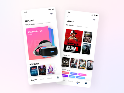 Gaming ecommerce App UI best shot gradient colorpalette games playstation gamification gaming colors app userexperience uiux design userinterface ux ui