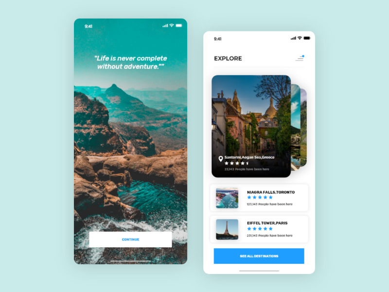 Travel application uxprocess wander travel mobile app android ios app appdesign userexperience userinterface ux ui