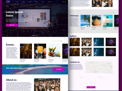 Simple Website Design for an events booking platform website design uiux events booking