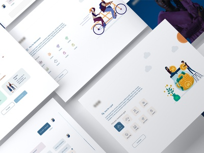 Client onboarding process for an investment website pensions investment illustation onboarding ui