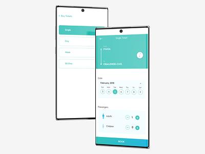 Bus Transportation App mobile app design transportation uiux