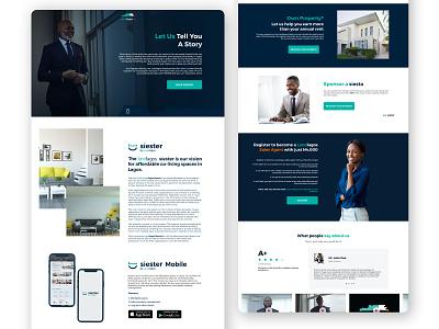 Landlagos Website rental landing page real estate